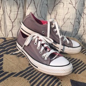 Shoes - Converse chucks grey pink sneakers